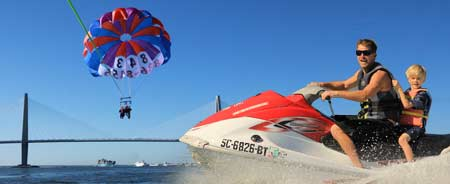 Jetski and Parasailing Harbor Bay Tours
